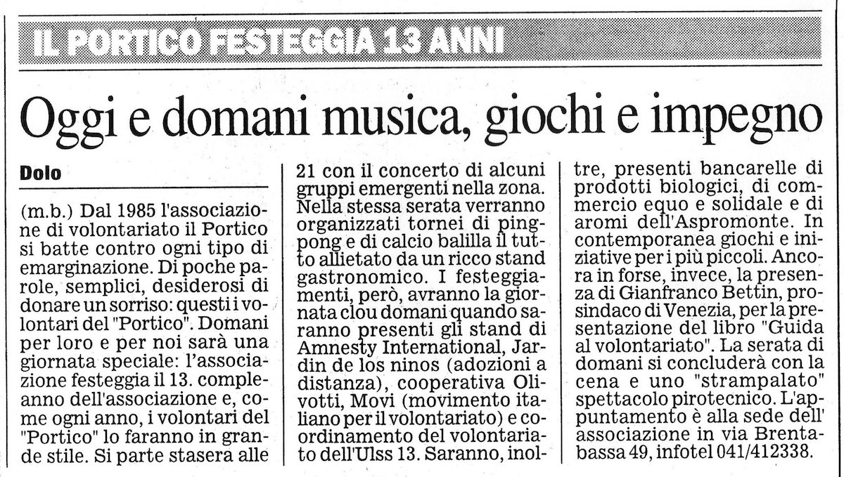 1998.09.12 Il Gazzettino di Venezia (p. 27)