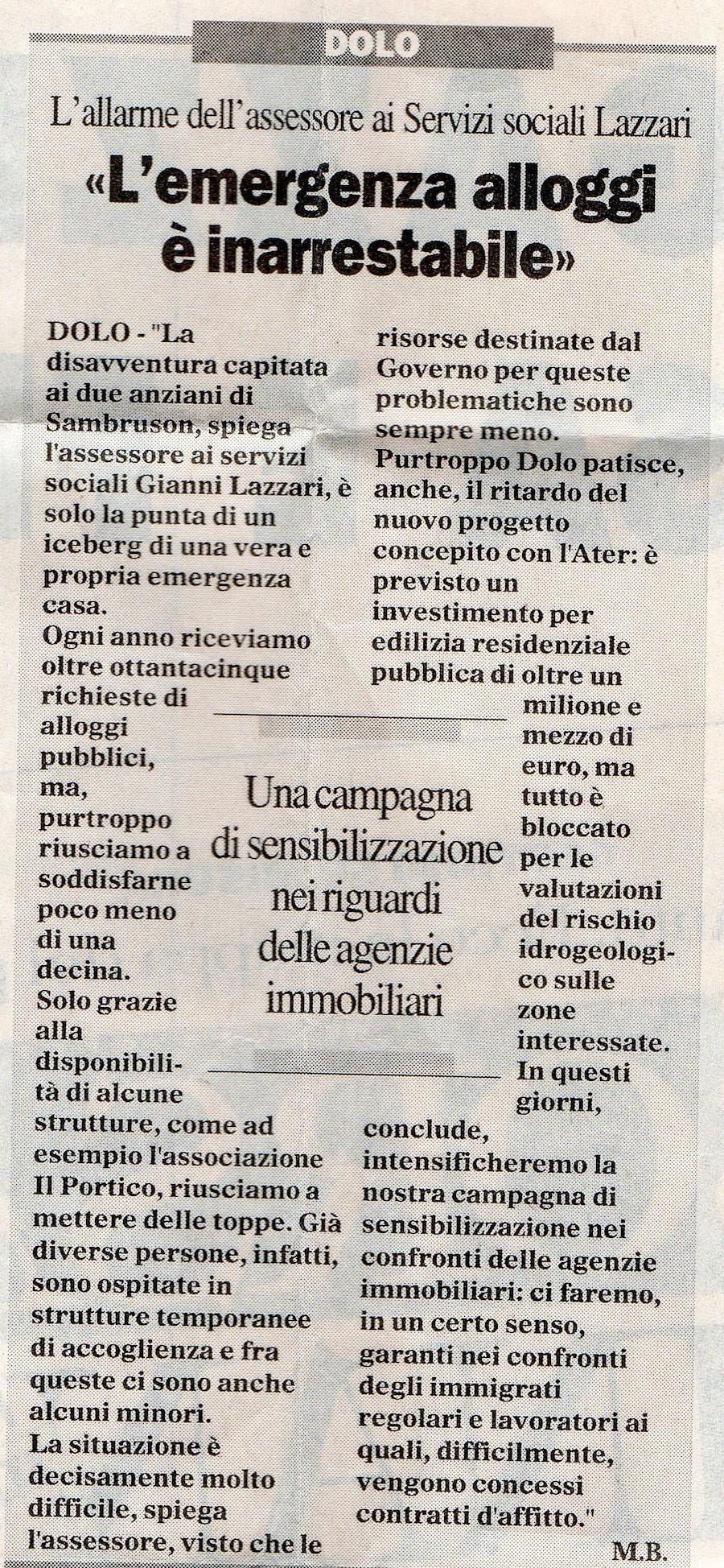 2003.05.23 Il Gazzettino di Venezia