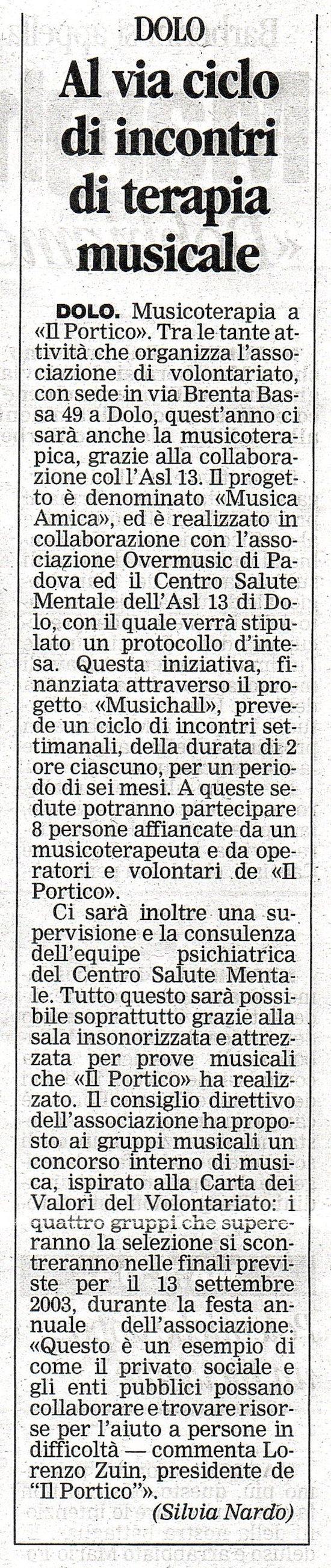 2003.08.01 La Nuova (p. 26)