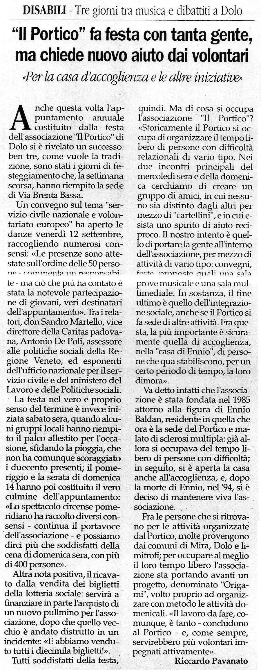 2003.09.27 Gente Veneta