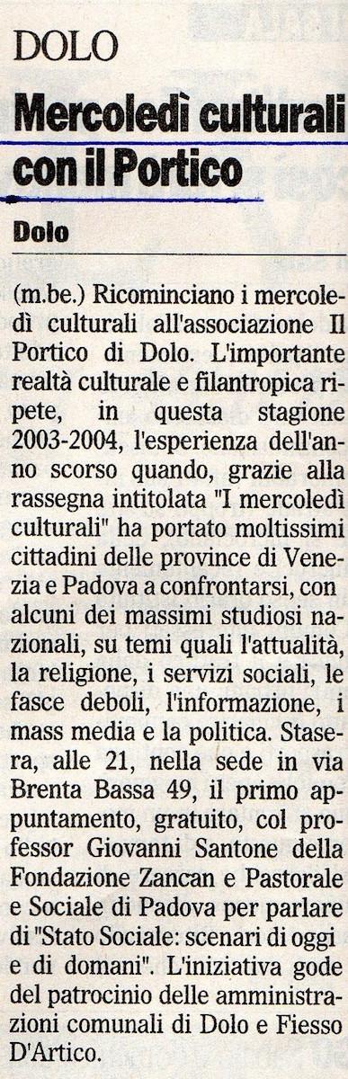 2003.10.22 Il Gazzettino di Venezia (p. 15)