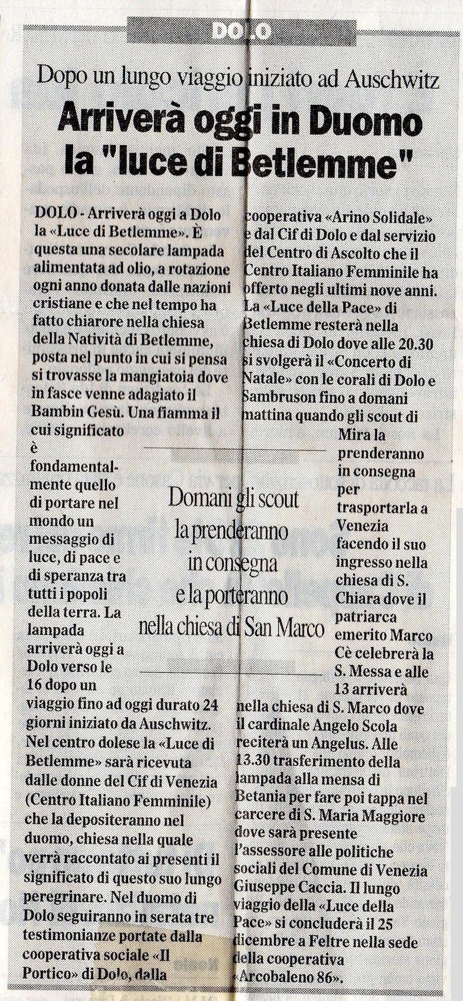 2004.12.21 Il Gazzettino di Venezia (p. 15)