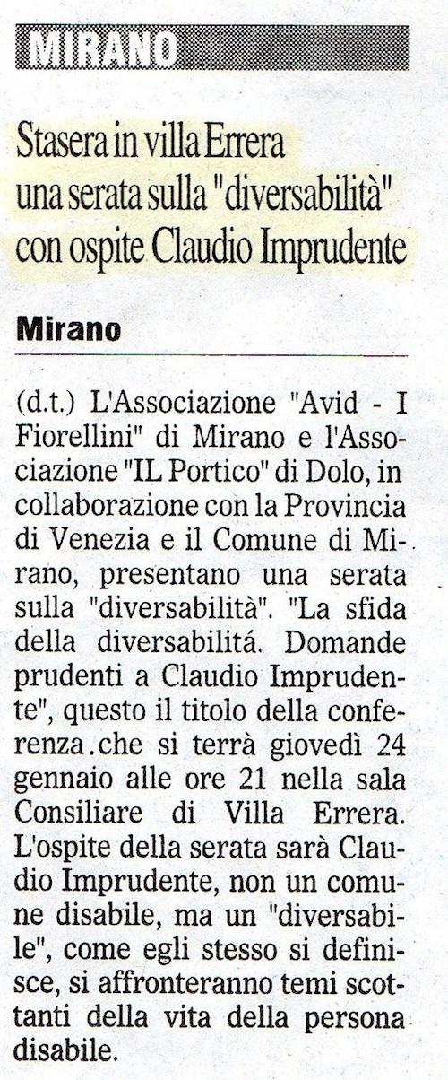2008.01.24 Il Gazzettino di Venezia (p. 11)