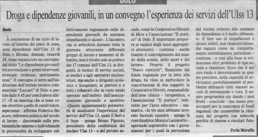 2009.04.23 Il Gazzettino (p. )