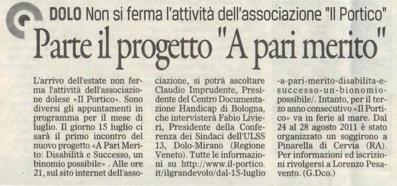 2011.07.06 Il Gazzettino di Venezia