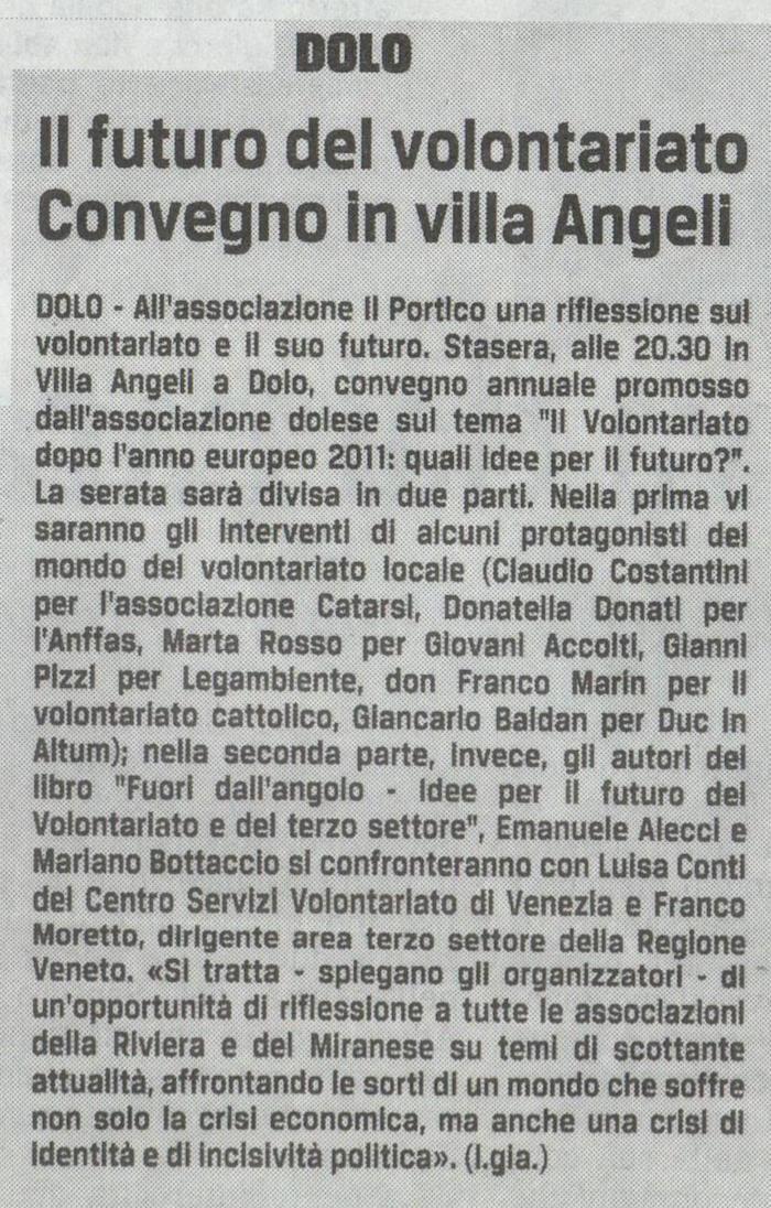 2011.09.09 Il Gazzettino di Venezia