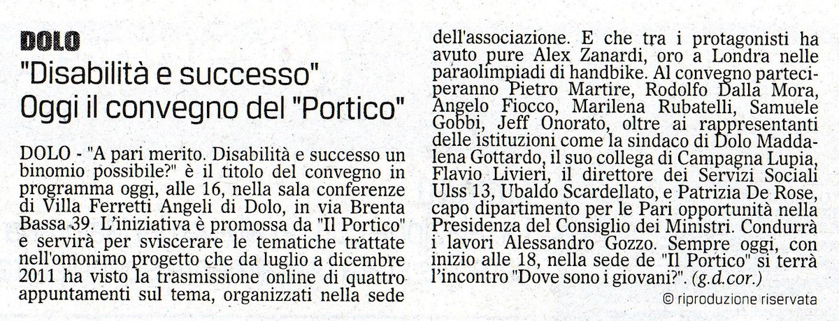 2012.09.08 il Gazzettino (p. 21)