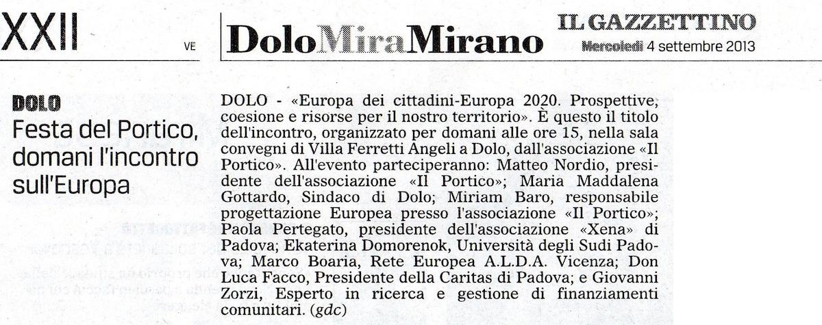 2013.09.04 Il Gazzettino di Venezia (p. 22)