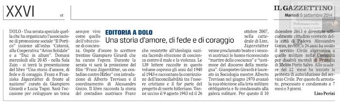 2014.09.09 Il Gazzettino di Venezia (p. 26)