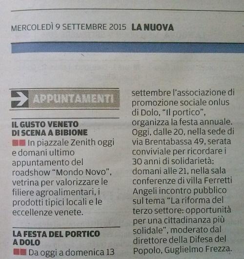 2015.09.09 la Nuova di Venezia e Mestre (p. 33)