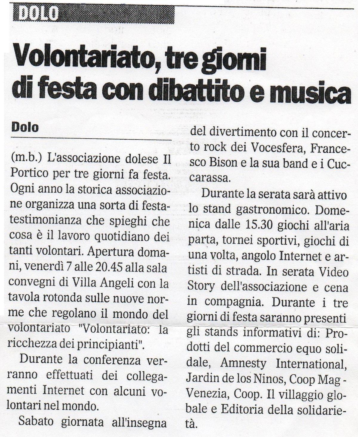 2001.09.06 Il Gazzettino di Venezia