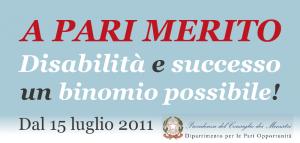 Logo di A Pari Merito Disabilità e Successo, un binomio possibile