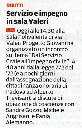 14.12.2012 il mattino di Padova (pagina 25)