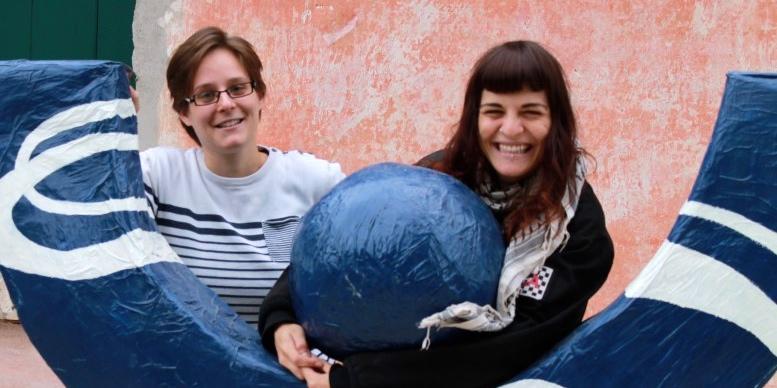 Le volontarie europee in servizio da estate 2015, Elise ed Irma