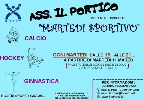 Martedì sportivo con Il Portico (da 11.3.2014)