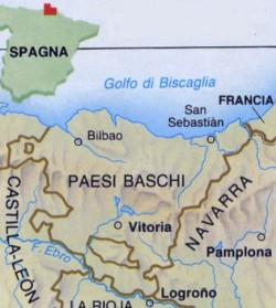 Paesi Baschi, mappa
