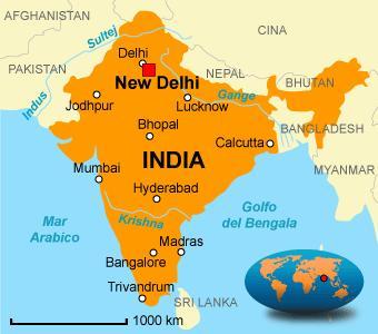 Cartina India Pakistan.Mappa India Il Portico Onlus